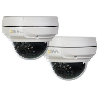 Q-See 2 Pack 4MP IP Dome Security Cameras - White