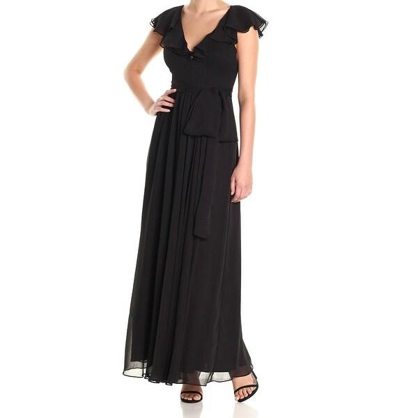 Shop Jill Jill Stuart Black Womens Size 6 Ruffled Tie