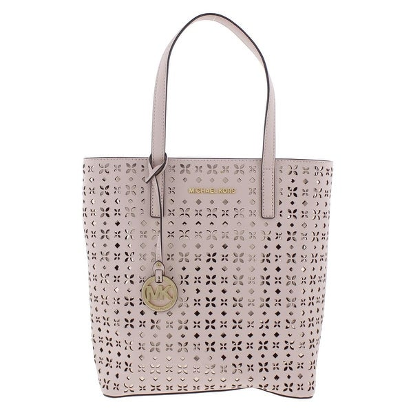 89092a89109a Shop MICHAEL Michael Kors Womens Hayley North South Handbag Leather Laser  Cut - LARGE - Free Shipping Today - Overstock - 19833305