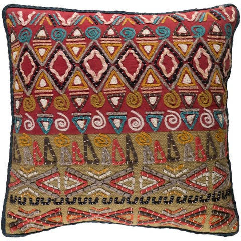 Decorative Ringwood Multi 18-inch Throw Pillow Cover
