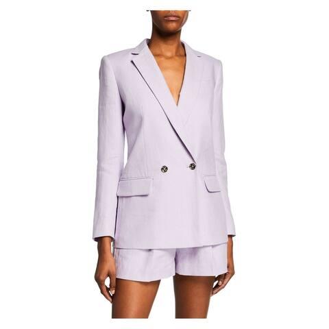 Michael Kors Womens Blazer Purple Size 12 Double Breasted Notch Collar