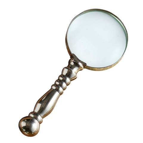 """8"""" Silver Magnifying Glass"""