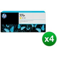 HP 771A 775-ml Yellow DesignJet Ink Cartridge (B6Y18A) (4-Pack)