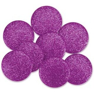 Purple - Dress It Up Big Glitter Dots 19Mm 8/Pkg