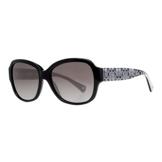 COACH Butterfly HC 8036 (L027 Pamela) Women's 5002/11 Black/Gray Gray Sunglasses - 56mm-16mm-135mm