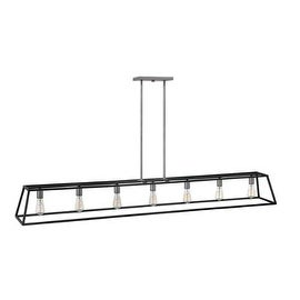 Hinkley Lighting 3355 7 Light 1 Tier Linear Chandelier from the Fulton Collection