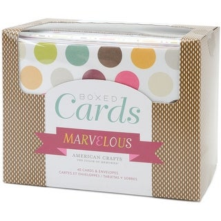 """American Crafts A2 Cards W/Envelopes (4.375""""X5.75"""") 40/Box-Marvelous"""