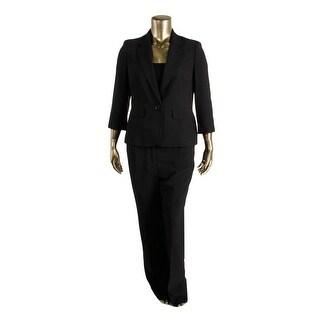 Le Suit Womens Woven Shadow Stripe Pant Suit - 6