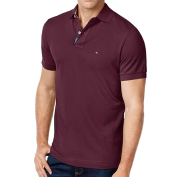 30b5263e4 Shop Tommy Hilfiger NEW Tawny Port Red Mens Size 3XL Pique-Knit Polo Shirt  - Free Shipping On Orders Over $45 - Overstock - 19840312