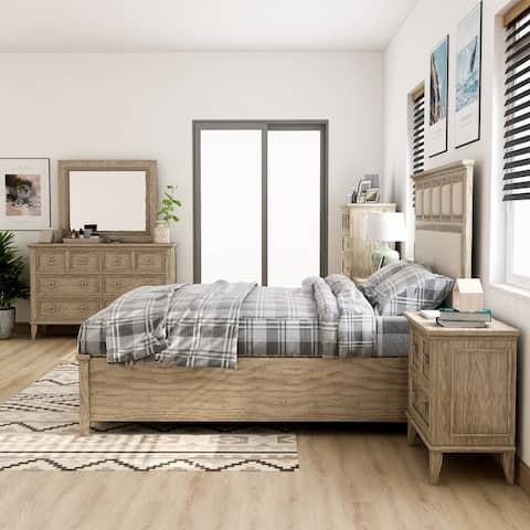 Furniture of America Flek Transitional Natural Tone 6-piece Bedroom Set