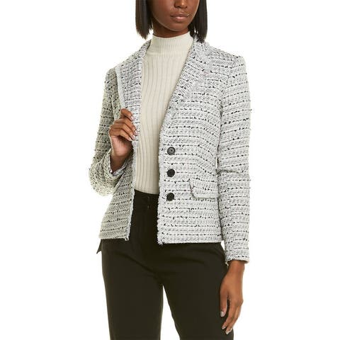 Karl Lagerfeld Tweed Wool-Blend Jacket