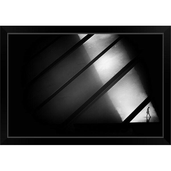 """Crossing"" Black Framed Print"