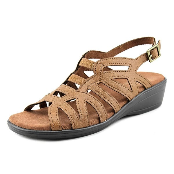 Easy Street Curly Open-Toe Synthetic Slingback Sandal
