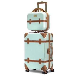 Gatsby 2 Piece Hardside Carry-On Luggage Set Mint