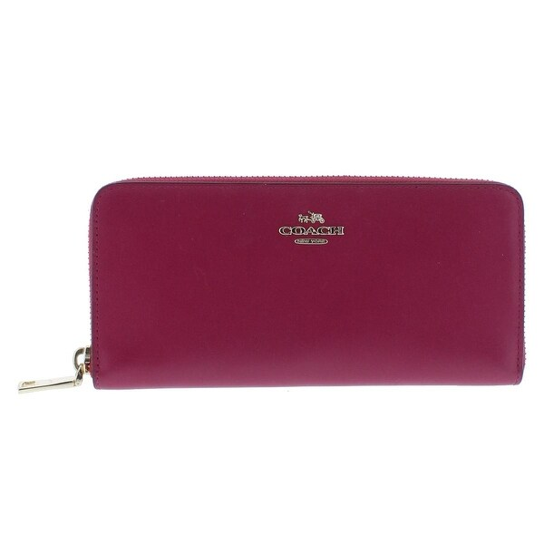 Coach Womens Zip Around Wallet Leather Accordion - o/s
