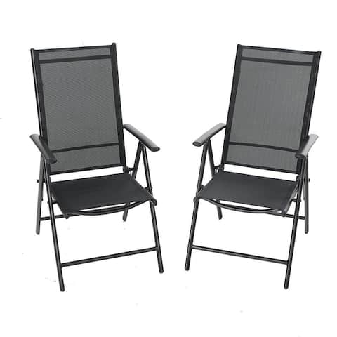Phi Villa 2-piece 7-positon Reclining Folding Sling Chair, optional dining set of 5 and 7.
