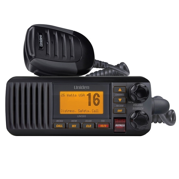 Uniden UM385 Fixed Mount VHF Radio - Black