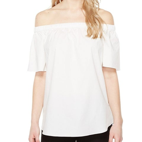 Vince Camuto White Womens Size Small S Off The Shoulder Blouse