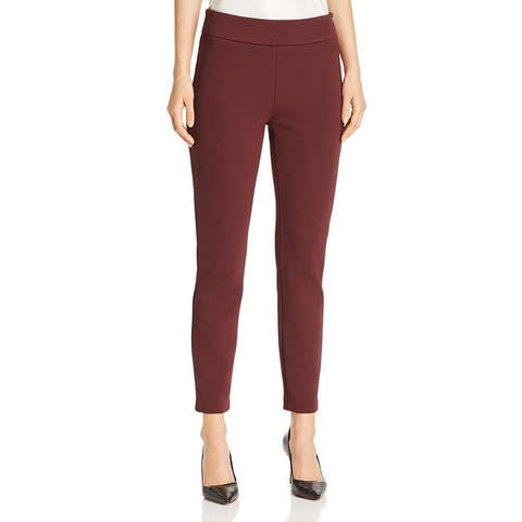 BOSS Hugo Boss Womens Telesta1 Skinny Pants Professional Slim Fit - Dark Red