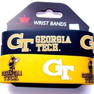 Georgia Tech Yellow Jackets Rubber Wrist Band Set Of 2 NCAA