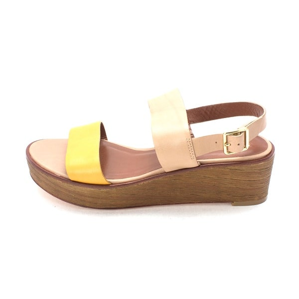 Cole Haan Womens 14A4120 Open Toe Casual Platform Sandals Gold Size 60