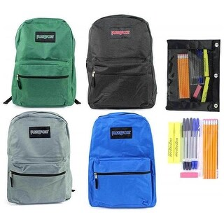 "Pre-Filled 15"" Classic PureSport Backpack & High School Supply Kit"