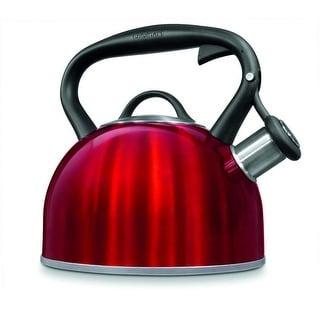 Cuisinart CTK-STRMR Valor Stainless Steel Tea Kettle, 2 Quart, Metallic Red