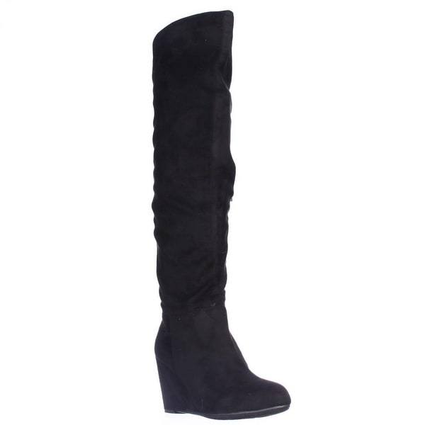 Chinese Laundry Unbelievable Knee High Wedge Boots, Black