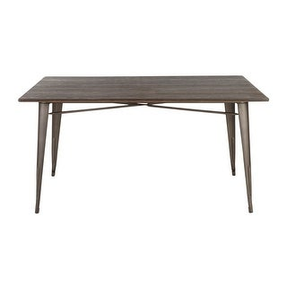 Carbon Loft Boyer Industrial Farmhouse 59-inch Dining Table