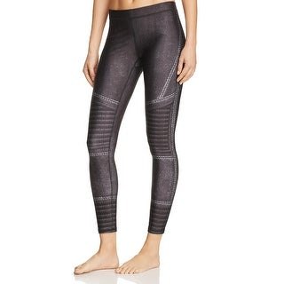 Zara Terez Womens Athletic Tights Printed Cropped Black L