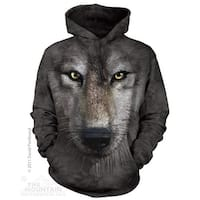 The Mountain Cotton Wolf Face Hoodie