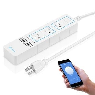 WiFi Accessible Power Strip, 3 AC Outlets, 2 USB Charging Ports, Alexa