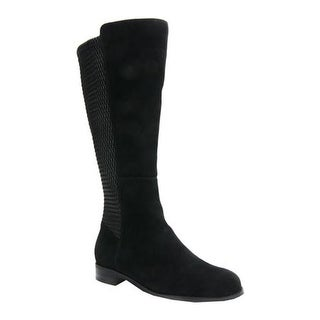 Ros Hommerson Women's Bianca Tall Wide Calf Boot Black Suede