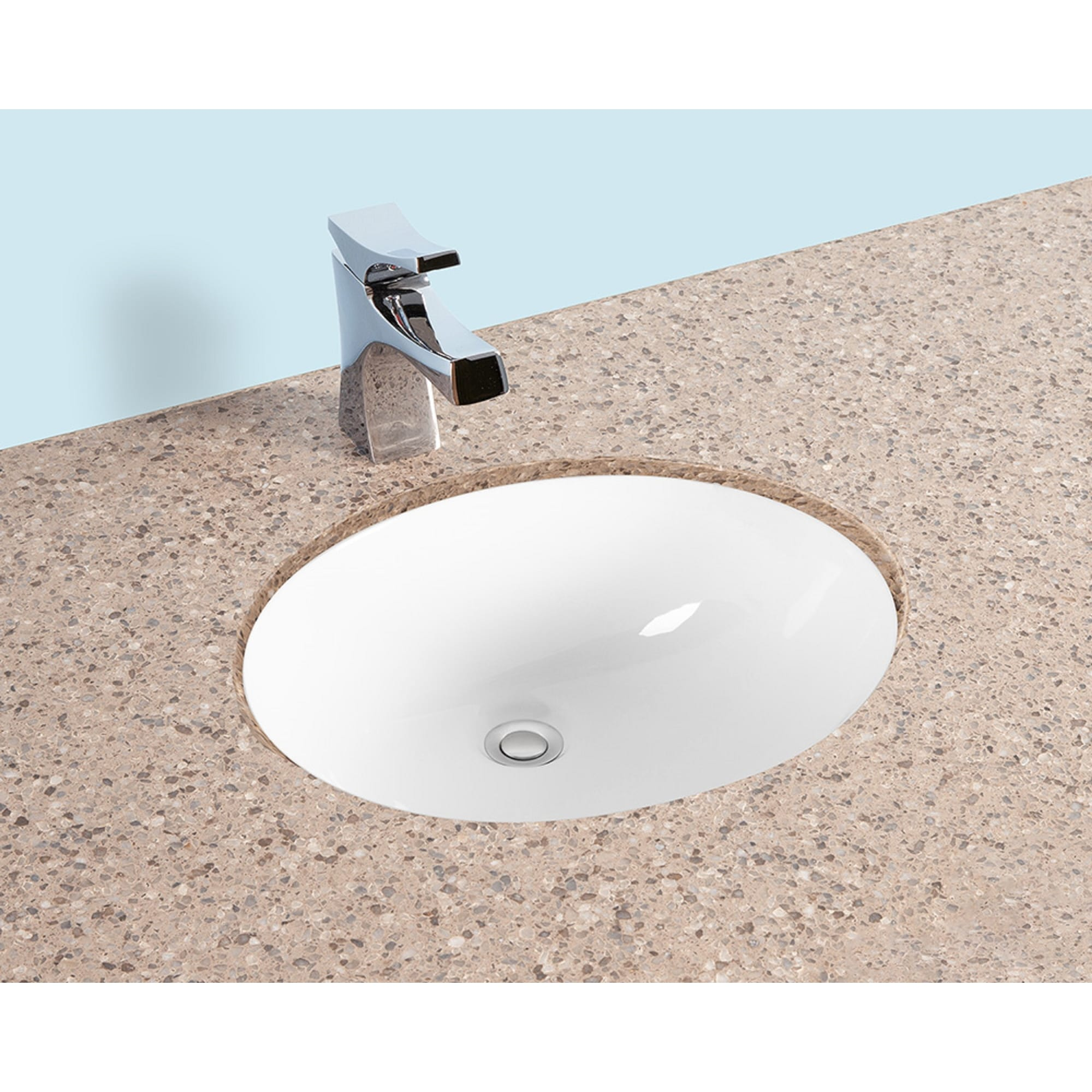 Romano 1916 19x16 Oval Undermount Bathroom Sink W Concealed Overflow Hole Modern Porcelain Ceramic Lavatory White Overstock 32027123