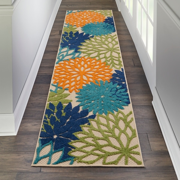 Nourison Aloha Floral Modern Abstract Indoor/Outdoor Area Rug. Opens flyout.