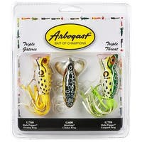 Arbogast Triple Threat Varying Weights Fishing Lures - multi-color