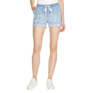 Bella Dahl Womens Casual Shorts Destroyed Cuffed Hem