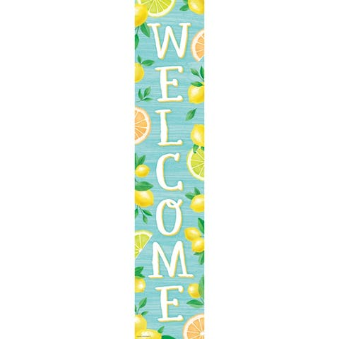 """Lemon Zest Welcome Banner, 8"""" x 39"""" - One Size"""