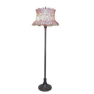 Meyda Tiffany 72160 Three Light Up Lighting Floor Lamp from the Blooming Rose Field Collection - Bronze
