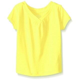 French Toast Girls 2T-16 Short Sleeve V-Neck T-Shirt - Yellow