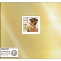 "Gold - K&Company Foil Post Bound Window Album 12""X12"""