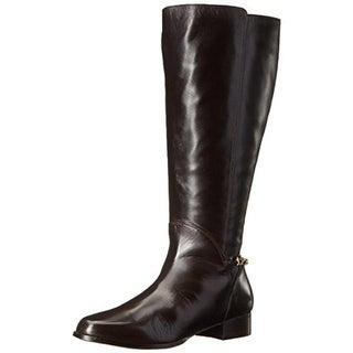 Rose Petals by Walking Cradles Womens Adina Extra Wide Calf Leather Riding Boots - 7 extra wide (e+, ww)
