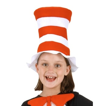 Dr. Seuss Cat In The Hat Child Costume Felt Hat - Red