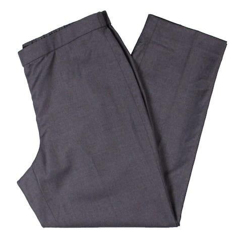 Theory Womens Trouser Pants Wool High Rise - Lavender Melange
