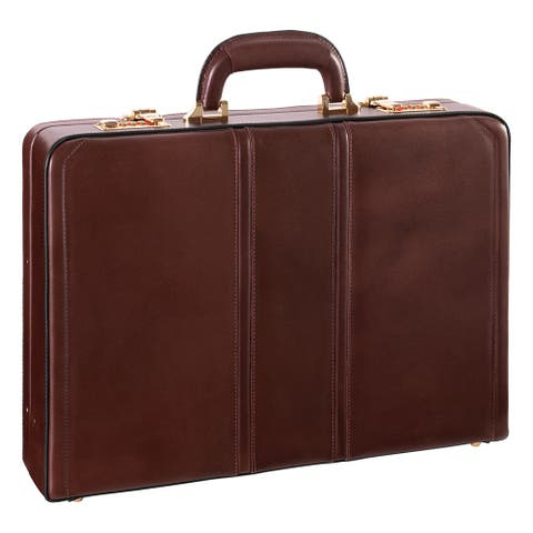 McKlein USA Daley Leather Attache Briefcase