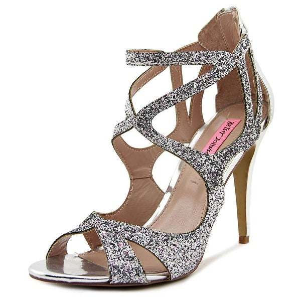 Betsey Johnson Raqui Women Open Toe Synthetic Silver Sandals