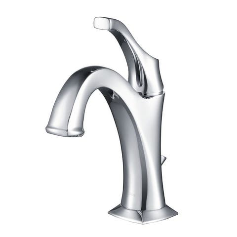 KRAUS Arlo Single Handle 1-Hole Bathroom Faucet w/ Lift Rod Drain