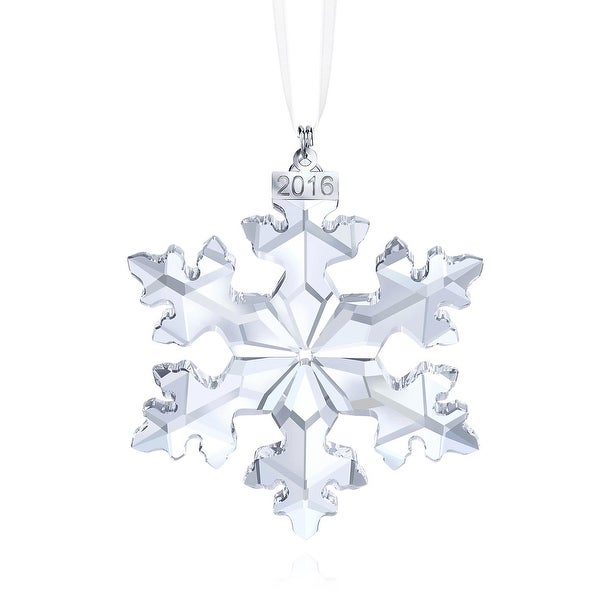 a42c639dcffa8f Shop Swarovski Snowflake Crystal Christmas Ornament Annual Edition 2016  Model 5180210 - Free Shipping Today - Overstock - 17733200