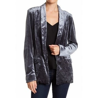Ro & De NEW Silver Womens Size Medium M Dual Pocket Velvet Blazer
