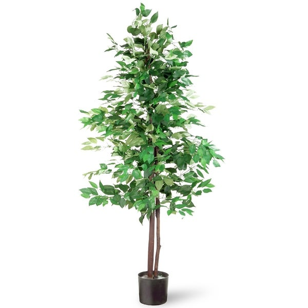 5 ' Potted Artificial Ficus Tree - N/A